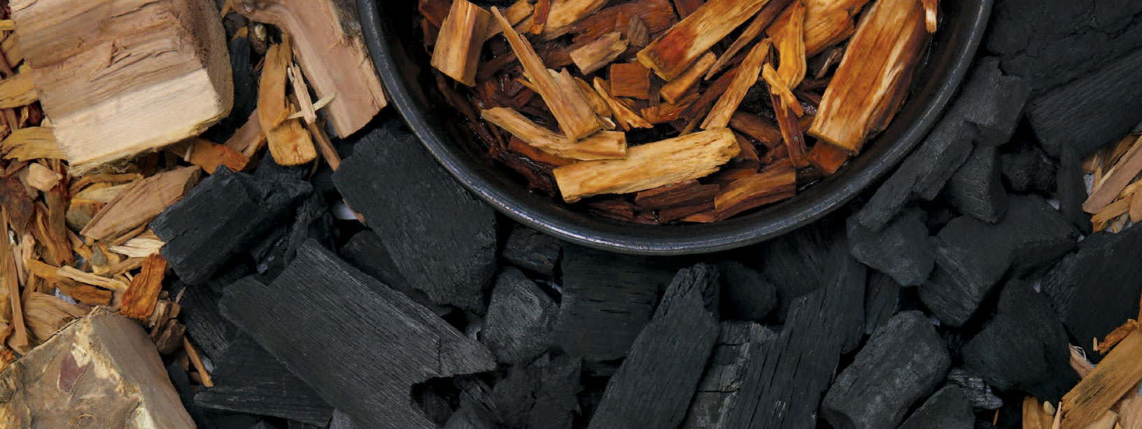 Barbecue Charcoal and Wood Chips
